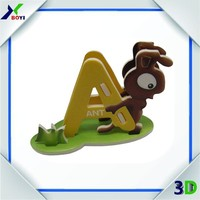 custom printing 3d paper model ship toy cardboard puzzle