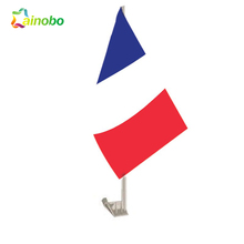 Strong plastic pole france national car window flag