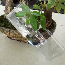 promotional clear PET Fish lure packing with hanger from factory directly