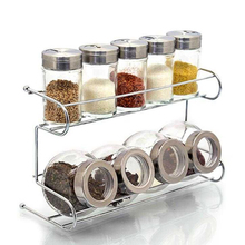 No drilling screw Easy Installation steel wall mounted kitchen spice rack with hook