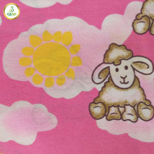 little lamb animal cartoon design polyester fabric for children