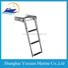 3 -Step Under Platform Boat Boarding Ladder, Telescoping/Stainless Steel