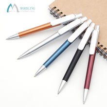 Marbling Promotional Plastic Pen Customized Logo Big Pen Clip MPL913S