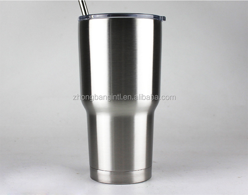 double wall 30oz 18/8 stainless steel vacuum cup insulated Tumbler Cup with crystal lid,ice/cold travel tumber Cup