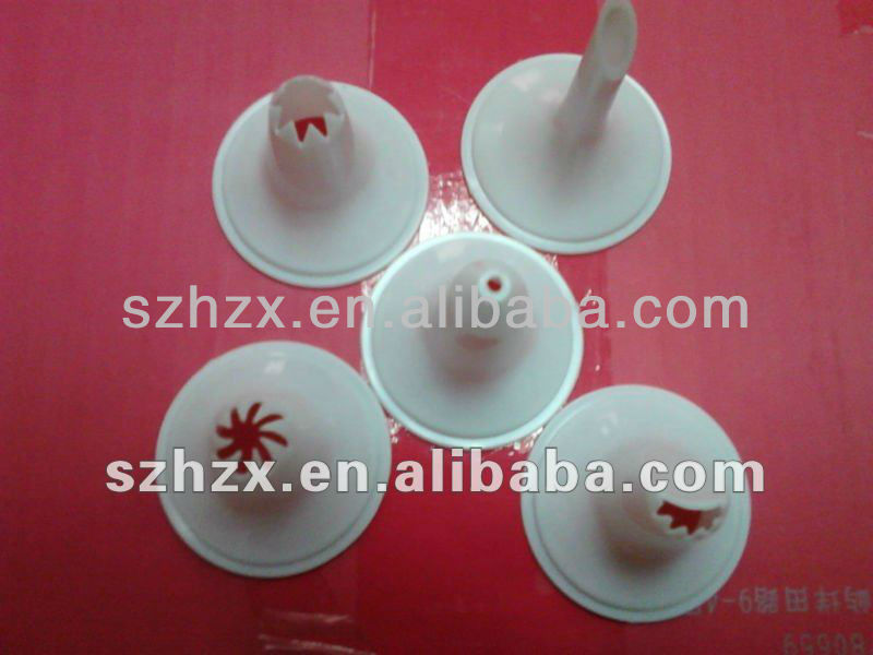 healthy durable white PP plastic cream decorating nozzles