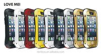Small Waist Gorilla Glass Aluminum Metal Waterproof Shockproof Dirtproof Case for iPhone 4 4s