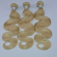 wholesale 100% remy virgin human hair extension Cheap Unprocessed 8A body wave blonde 613# raw Brazilian hair for women