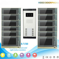 2016 Dust proof multi apartments video door phone with gsm intercom system for villa