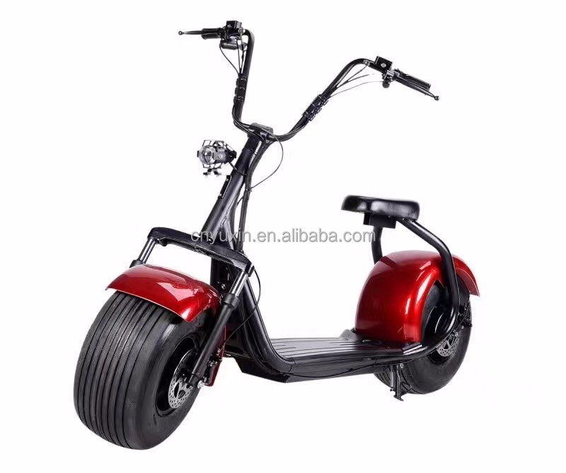 2018 new style 2 wheel citycoco 1000w with 18*9.5 Fat Tyres /electric citycoco motorbike with Backrest
