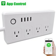 Chicoyo 120V 240V multi socket surge protector wifi power strip with USB port