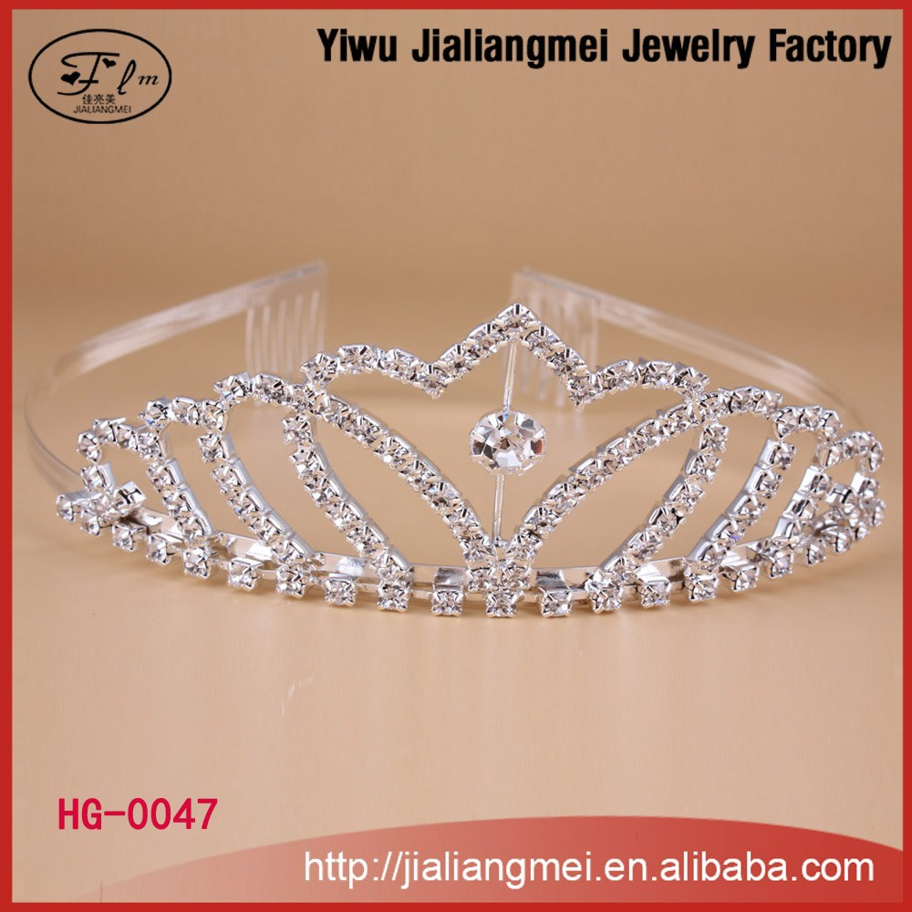 Fashion mini rhinestone headband custom beauty pageant crowns tiaras with comb
