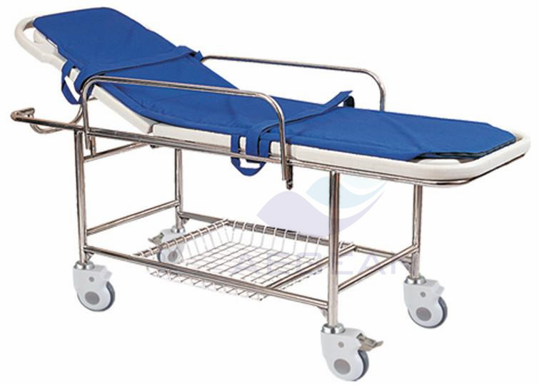 AG-HS013 with stainless steel frame ABS bed platform artificial mattress urgent care stretcher