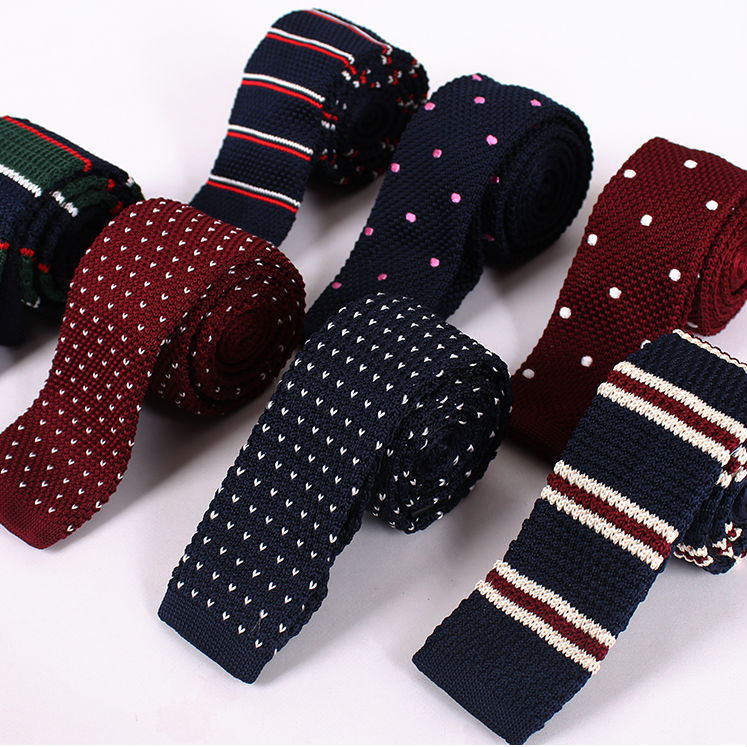 Mens Necktie New Fashion Casual Official Wedding Evening Party Gravata Slim Ties for Men Skinny Knitted Tie