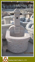 garden hand carved stone trough fountain