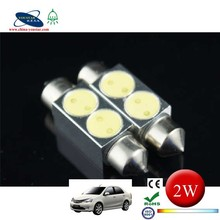 36/39/41mm 5050,led car light 2 LED 2 smd Dome 2 w LED Festoon Light Bulbs