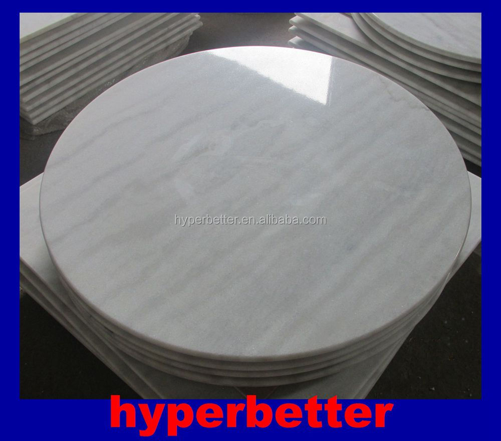 White round marble coffee table top