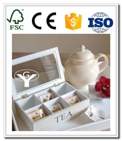 arts crafts wooden tea box packaging