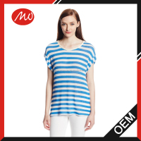 Women's stylish Striped Short Sleeve Sweaters for summer