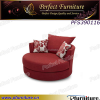 3 seater round shape sofa modern fabric upholestered wooden sofa.