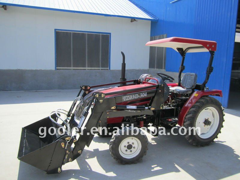 China LZ404, 40HP, 4WD Garden Tractor Fit with 4in1 Front
