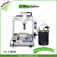 Unique Design hemp oil glass atomizer filling machine/automatic down filling machine price