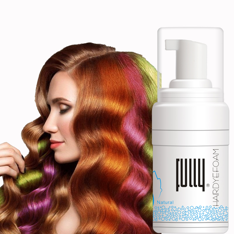 FULLY Wholesale Permanent Hair Dye Shampoo Water Washable Foam <strong>Color</strong>