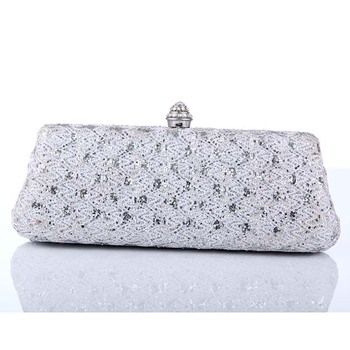 Wholesale Ladies shoes and matching bags silver clutch bags