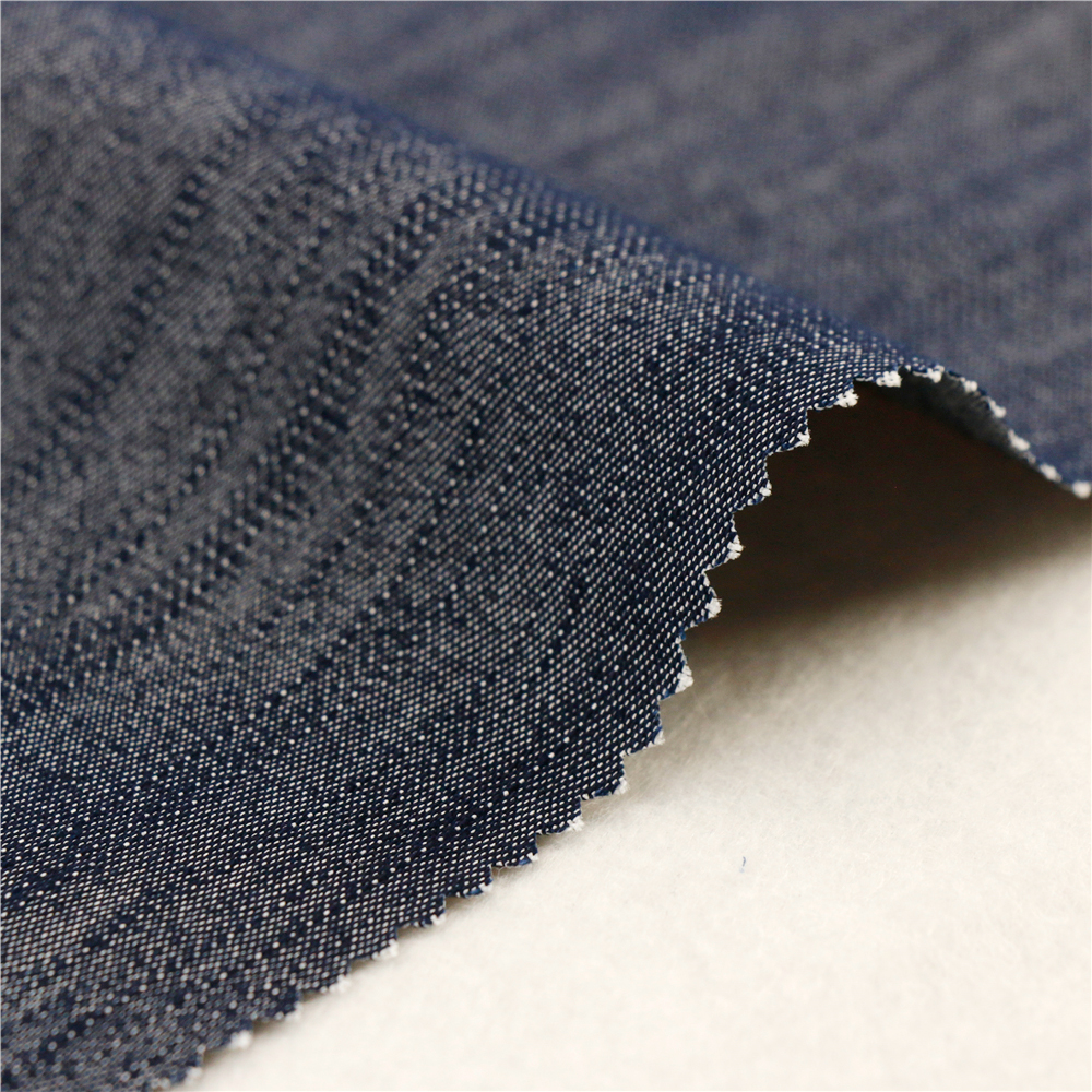 16X200D+40D/98X44 205Gsm 147Cm Navy Dyed Spandex Polyester Cotton For Women High Quality Fashionable Fabric Elastic Band