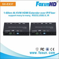 Ultra 4K HDMI KVM over IP Extender support Fiber Extender, support multicast over VLAN, with Bi-Direction IR pass