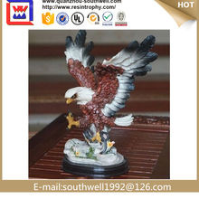 2015 chinese factory custom made handmade carved hot new products large sculptures for sale of Flying resin Bald Eagle