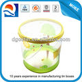 Round PVC clear bucket with handle