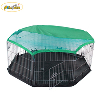 Folding Small Animal Metal Rabbit Hutch Pet Playpen Enclosure