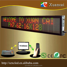 Multilines IR remote control/Keyboard/USB/RS232 control system programable wireless led moving message display board