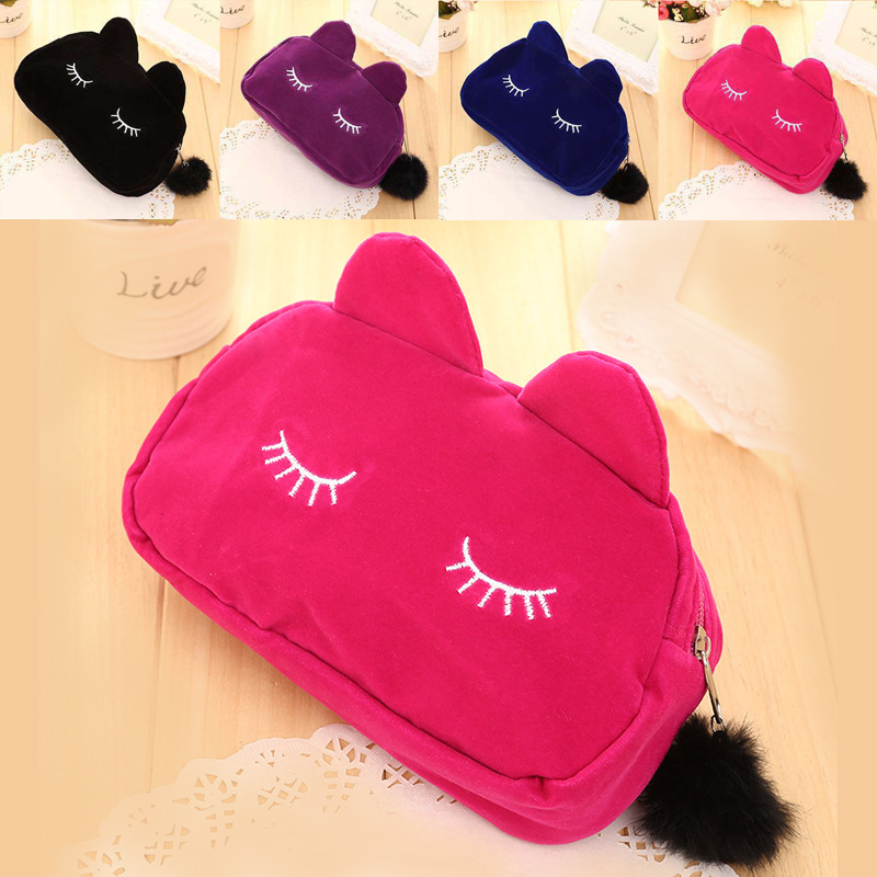 Wholesale New style travel ladies hand art storage case women fold up travel cosmetic makeup bag