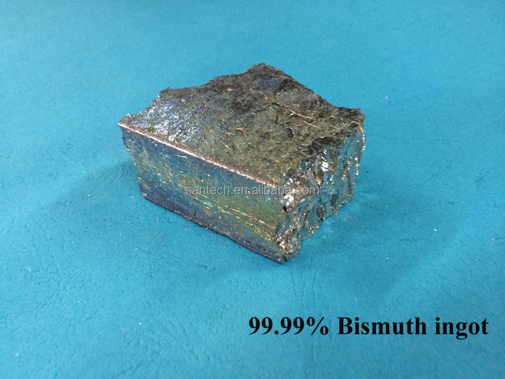 4N 5N Bismuth metal ingot, Bismuth crystal Using Bismuth ingot