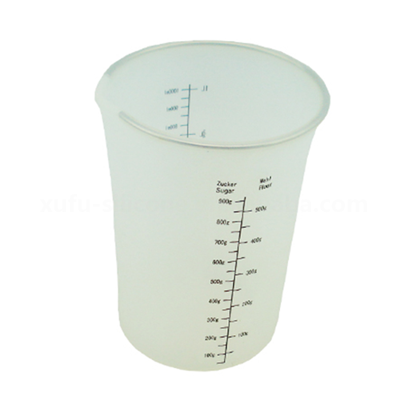 Hot selling cup with scale soft silicone measuring cup for cooking