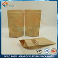 Kraft Paper Stand Up Pouch with Customized Window