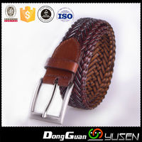Fashion genuine braided leather belts for man
