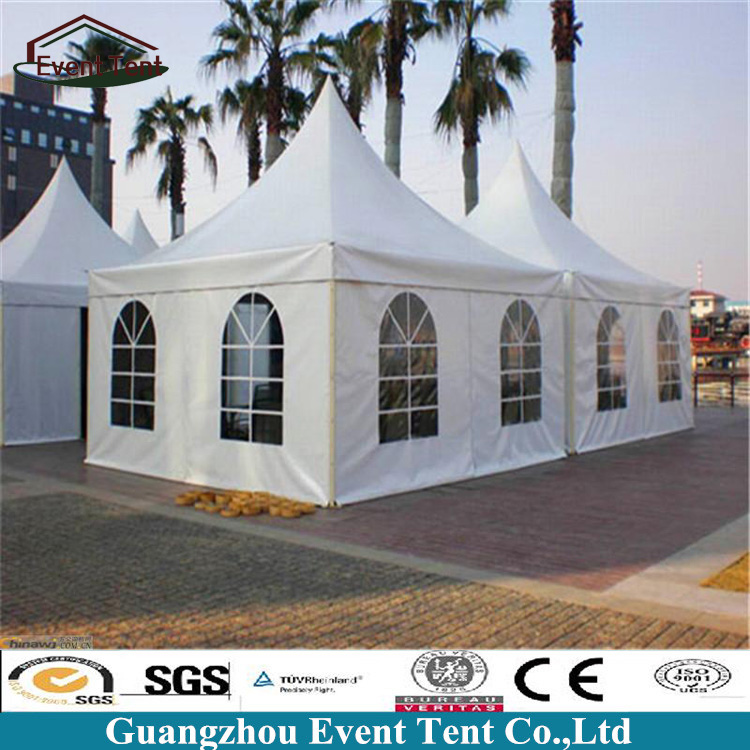 Outdoor Waterproof Pagoda Canopy Tent With Clear PVC Windows