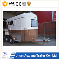 2 horse trailer with horse trailer ramp and horse trailer door
