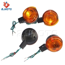Black Housing Orange Indicator Motorcycle Front & Rear Turn Signal Lights for Simson S50 S51 S70