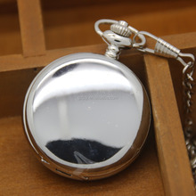 Hot Sales Empty Silver Pocket Watch,Plain Modern Stylish Pocket Watch