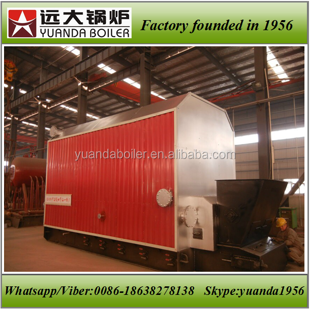 Chain grate automatic coal fired thermal oil heater