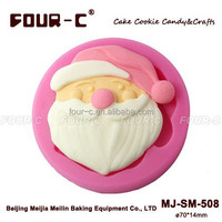 Christmas silicone fondant mould, newest cake decorating supplies,cupcake mold