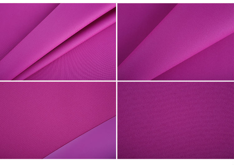 High quality luggage material 1800d polyester oxford fabric with double pu coating