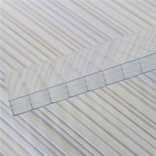 Low Price hollow PC Soundproof transparent roofing sheet, hollow polycarbonate sheet