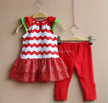 baby outfits set boutique red stripe bodice and tunic top matchs red icing legging