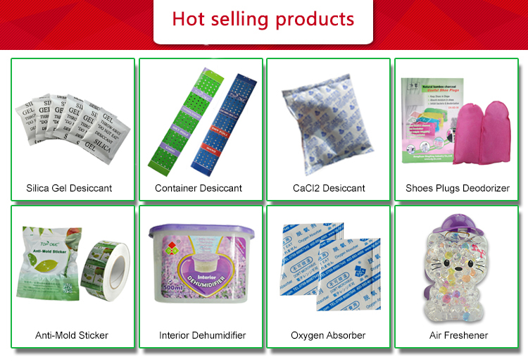 Food packaging desiccant drying agent oxygen absorber for food use