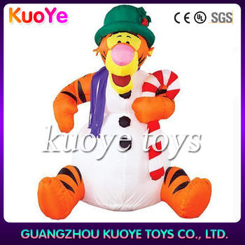 inflatable tiger cartoon/advertising tiger costume