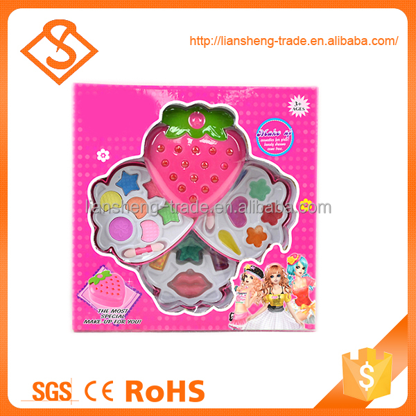 Hot selling kids colorful beauty play plastic toy makeup set